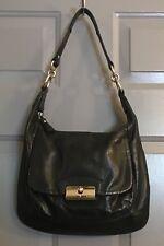 Coach Kristin Black Leather Shoulder Bag Handbag Purse 19293 Textured Rare Gray