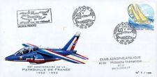 """PAF-93 : 1993 - FDC France """"40e anniversaire de la Patrouille de France"""