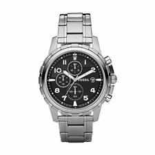 Fossil Mens Watch FS4542 with Black Dial and Stainless Steel Bracelet BNWT