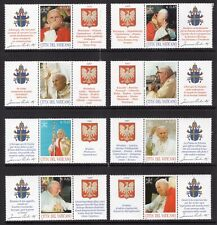 VATICAN 2004 SCOTT NH 1264a-65d Pope John Paul II Poland TAB STRIPS -FreeUSAShip