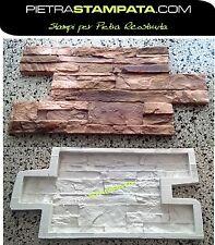 Giessformen Polyurethan für Beton Gips Wandverblender Formen Schieferstruktur