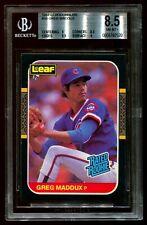 *RARE* 1987 Leaf Greg Maddux Rookie BGS 8.5 Low POP!