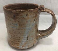 "Stoneware Mug Cup Coffee Tea Cocoa Pottery Artisan Brown 3.5"" 9cm 1-Cup 237ml"
