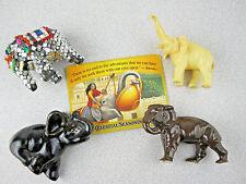 LOT 5 Cute Elephant Fridge Magnets Celestial Tea Plastic Ceramic Glazed Bull E5