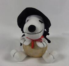 """9"""" Whitman's Halloween Peanuts Snoopy Plush Witch Cape and Hat"""