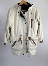 Fleet Street Anorac Coat Beige Hooded Jacket w/ Removable Lining Womens S Small