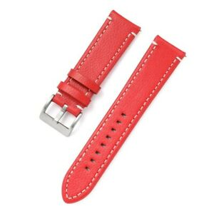 18mm 19mm 20 21 22mm 24mm Watchband Soft Lychee Grain Genuine Leather Watch Band