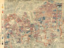 Hoxton Clerkenwell. Charles Booth la povertà MAP. Old Street St Luke'S Finsbury 1902