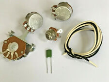 More details for telecaster guitar wiring kit alpha pots switch cloth wire jack and capacitor