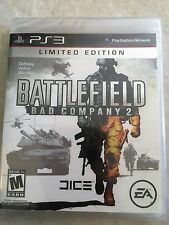 Battlefield: Bad Company 2 Limited Edition Sony PlayStation 3, 2010 USED SEALED