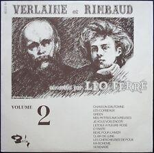 LEO FERRE VERLAINE et RIMBAUD VOLUME 2 LP 33T 30CM / BARCLAY 80.237 NEUF MINT