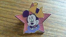 Minnie Mouse in a Star pink glitter Disney Land Paris Dlrp Dlp Pin