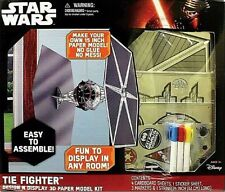 DISNEY STAR WARS TIE FIGHTER DESIGN-N-DISPLAY 3D CARDBOARD MODEL KIT! NO GLUE!