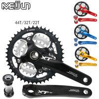 For Shimano SRAM Triple MTB Bike Chainring Crankset BB 22/32/44T Crank