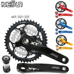 22/32/44T Triple MTB Bike Chainring Crankset BB Crank For Shimano SRAM