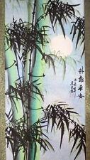 """Rollbild chinesische Malerei """"Bambus im Mondschein"""", links Bildrolle handgemalt"""