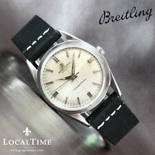 Breitling Genuine Leather Strap Adult Wristwatches