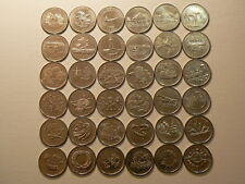 Canada Lot Of 36 Commemorative 25 Cents 1992, 1999 & 2000, No Duplicates #G075