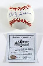 Billy Sullivan Signed ONL Baseball Stacks of Plaques CoA Auto DI41314