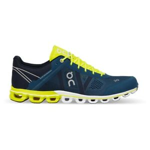 On Running Mens Cloudflow Running Shoes - Petrol/Neon - 12 UK