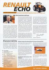 Renault Echo Prospekt Agritechnica 2001 brochure Landmaschinen Landwirtschaft