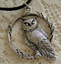 LARGE  ~  OWL..ON..A..PERCH  ~  NECKLACE  -- (GREAT_GIFT)