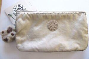 Kipling Creative Wallet/Pouch-Gleaming Gold Metallic -Ninke Monkey-key ring