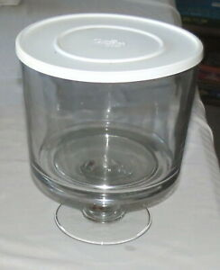 Pampered Chef Clear Glass Trifle Bowl - #2832 - Never Used - Complete