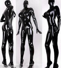 100% Latex Rubber 0.48mm Catsuit Suit Bodysuit Hood Mask Zentai Overall Costume