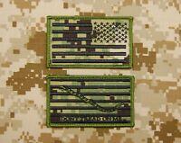 NWU Type III Reverse US Flag & First Navy Jack Patch Set AOR2 Hook US Navy USN
