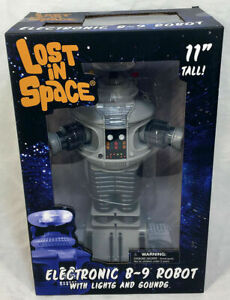 """Diamond Select LOST IN SPACE Electronic Lights & Sounds B-9 Robot 11"""" Figure"""