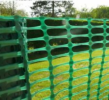GREEN PLASTIC BARRIER GARDEN FENCING 1m x 25m Plant Animal Safety Fence Roll