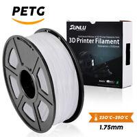 SUNLU PETG 3D Printer Filament 1.75mm 1KG/2.2LB Spool White 3D Printer Material