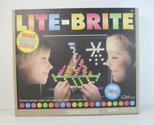 lite brite magic screen set pegs templates storage tray light bright box
