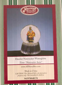 "San Fransisco Music Box Company Dazzler Nutcracker Waterglobe ""Nutcracker Suite"""