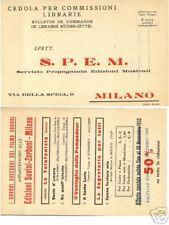 6505 CEDOLA LIBRARIA - SUVINI ZERBONI - S.P.E.M. MILANO