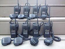 (8) MOTOROLA HT1250 UHF RADIOS 403-470MHz 128CH AAH25RDF9AA5AN NARROWBAND HT CP