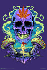 """Purple Cannabis Skull by Flyland Designs Poster 24.5"""" x 36.5"""" Laminated"""