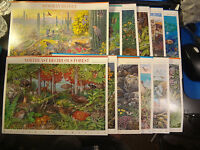 A COMPLETE SET OF 12 NATURE OF AMERICA STAMP SHEETS