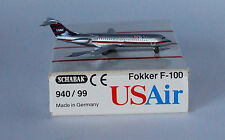 Schabak Fokker F-28-0100 USAir in 1:600 scale