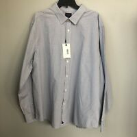 UNTUCKit Truffiere Oxford Casual Dress Shirt Size 3XL blue white plaid check New
