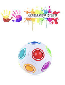 Rainbow Puzzle Ball, Speed Cube Ball Puzzle Game Fun Stress Reliever Magic Ball