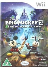 Epic Mickey 2: The Power Of Two Nintendo Wii 3+ Action Adventure Game
