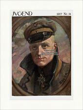 Pagina del titolo il numero 31 di 1917 Karl Bauer Manfred FRH Richthofen gioventù 4122