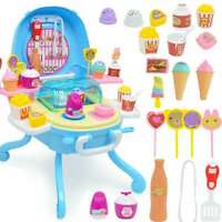 41pcs Kids Toy Ice Cream Stand Cooking Serve Fun Play Delicious Dinner