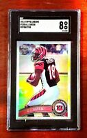 2011 Topps Chrome Refractor #150 A.J. Green Rookie Bengals RC SGC 8 Comp PSA BGS