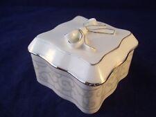 Wedgwood Celestial Platinum Lidded Treasure Box England Retired Fine Bone China