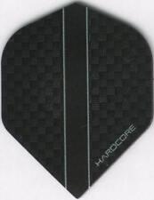 HARDCORE Black Carbon Dart Flights: 3 per set