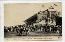 (Gu283-438) Horse Racing, Plage Fleurie, DEAUVILLE, France c1920 VG Unused