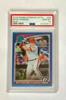 2018 Donruss Optic Blue Rhys Hoskins RC PSA 10, #'d/149 card #38